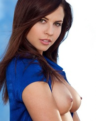 Cali Logan is a fresh brunette with a great natural body